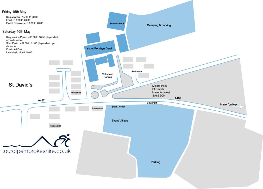 Tour of Pembrokeshire Site Plan
